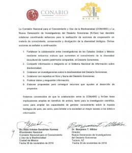 N-GEN-CONABIO Carta de Intención de Colaboración